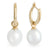 9K Yellow Gold Australian South Sea Cultured Pearl Huggie Earrings