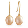 18K Yellow Gold South Sea Cultured Pearl Drop Earrings
