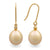 18K Yellow Gold South Sea Cultured Pearl Hook Earrings