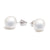 18K White Gold Australian South Sea Cultured Pearl Stud Earrings