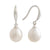 Sterling Silver South Sea Cultured Pearl Hook Earrings