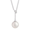 Sterling Silver Australian South Sea Cultured Pearl Necklace