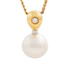 18K Yellow & White Gold Australian South Sea Cultured Pearl Pendant
