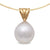 18K Yellow Gold Australian South Sea Cultured Pearl Pendant