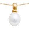 Yellow Gold Drop Pearl Pendant