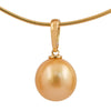 18K Yellow Gold South Sea Cultured Pearl Enhancer Style Pendant
