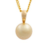 9K Yellow Gold South Sea Cultured Pearl Pendant