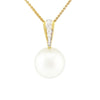 18K Yellow Gold Australian South Sea Cultured Pearl & Diamond Pendant