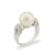 18K White Gold Australian South Sea Cultured Pearl Ring