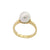 9K Yellow Gold Australian South Sea Cultured Pearl Ring