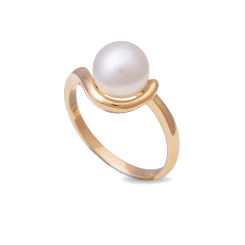 9K Yellow Gold South Sea Cultured Pearl Ring