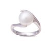 9K White Gold South Sea Cultured Pearl Ring