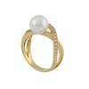 18K Yellow Gold Australian South Sea Cultured Pearl Ring