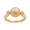 18K Yellow Gold South Sea Cultured Pearl Ring
