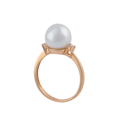 18K Rose Gold Australian South Sea Cultured Pearl Ring