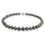 9K White Gold Tahitian Cultured Black Pearl Strand