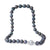 Sterling Silver Tahitian Cultured Black Pearl Strand