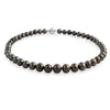 18K White Gold Tahitian Cultured Black Pearl Strand