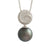 18K White Gold Tahitian Cultured Black Pearl Pendant