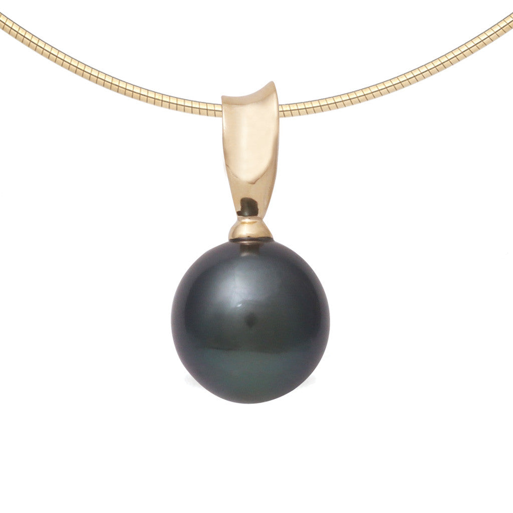 tahitian black coral gold pendant pearl necklace wedding media