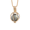 9K Yellow Gold Tahitian Cultured Pearl Pendant