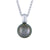 9K White Gold Tahitian Cultured Black Pearl Pendant
