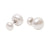 Sterling Silver Freshwater Pearl 8-8.5 & 12-12.5mm Earrings