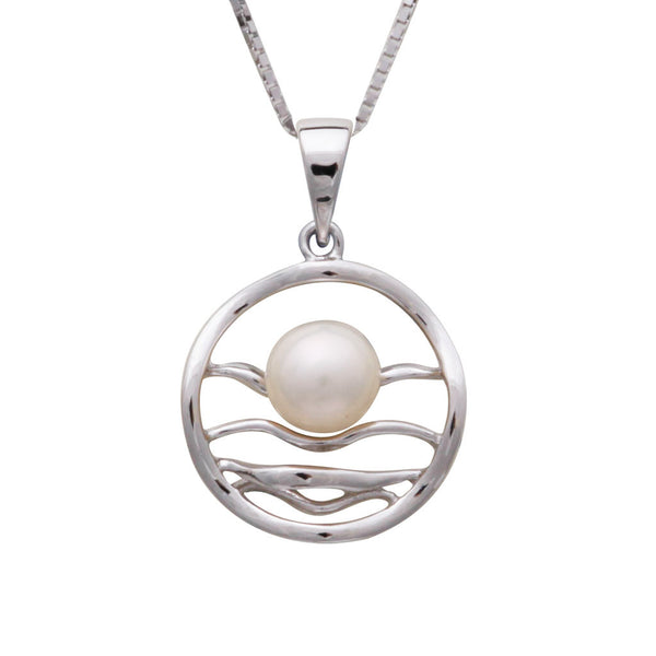 Sterling Silver Freshwater Pearl 6.5-7 mm Pendant
