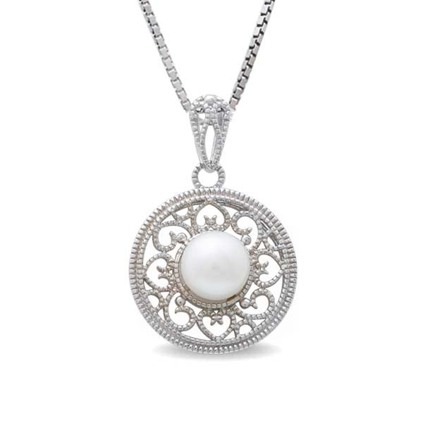Sterling Silver Freshwater Pearl 8.5-9 mm Pendant