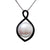 Sterling Silver Freshwater Pearl & Black Spinel 11.5-12 mm Pendant