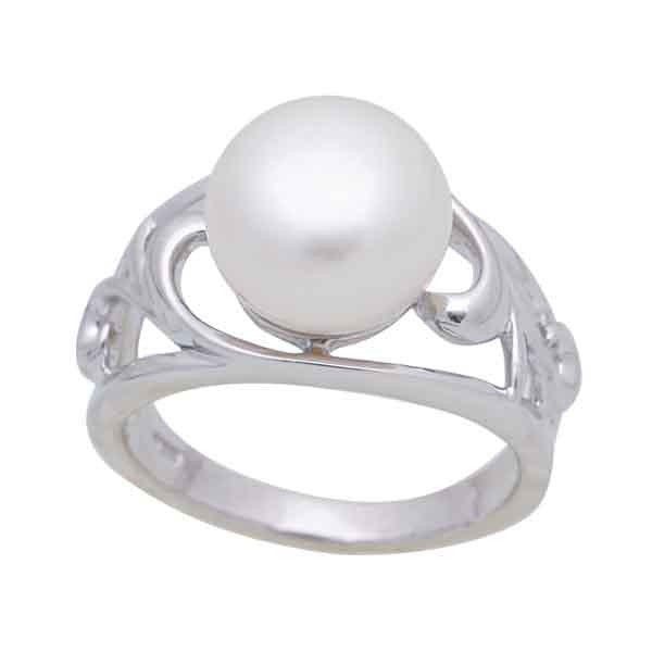 Sterling Silver Freshwater Pearl 10-11 mm Ring