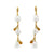 18K Yellow Gold Australian South Sea Keshi Pearl Drop Earrings