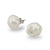 18K White Gold Australian South Sea Keshi Pearl Stud Earrings