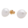 18K Yellow Gold Australian South Sea Keshi Pearl Stud Earrings