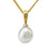 18K Yellow & White Gold Australian South Sea Keshi Pearl Pendant
