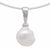18K White Gold Australian South Sea Keshi Pearl Pendant