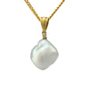 18K Yellow Gold Australian South Sea Keshi Pearl Pendant