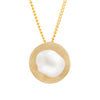 9K Yellow Gold Australian South Sea Keshi Pearl Pendant
