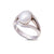 9K White Gold Australian South Sea Keshi Pearl Ring