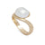 9K Yellow Gold Australian South Sea Keshi Pearl Ring