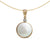 9K Yellow Gold Mabe Pearl Pendant