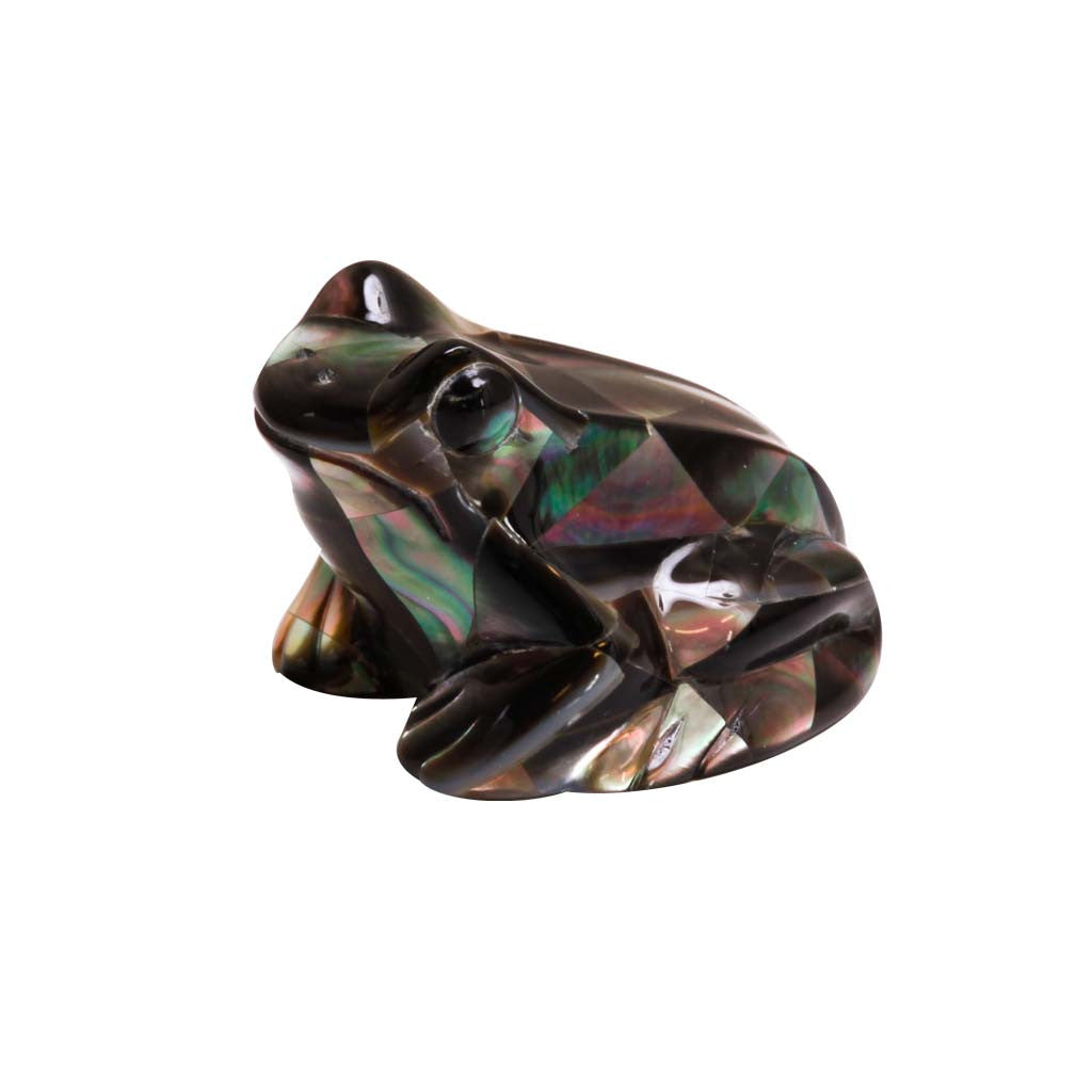 Mother of Pearl Black Frog 1.5""
