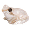 Mother of Pearl Frog White 2.5""