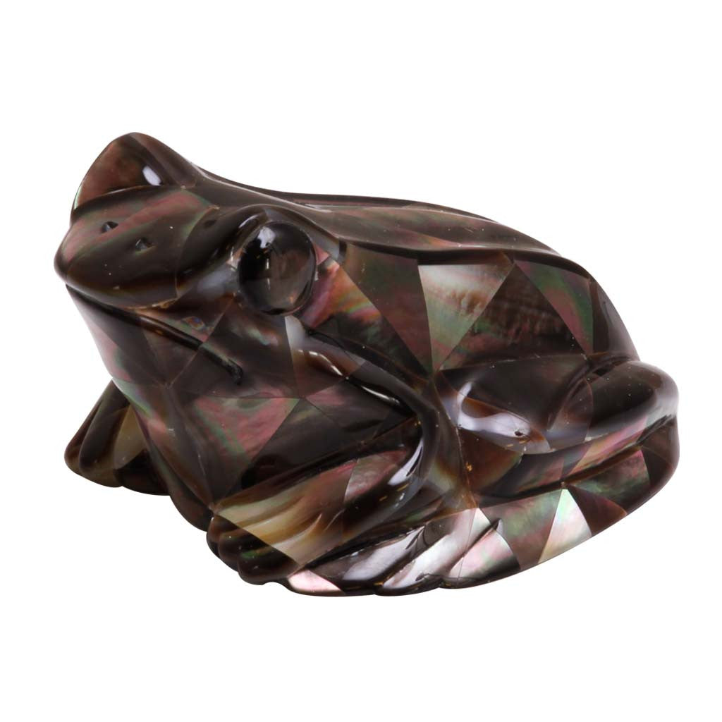 Mother of Pearl Black Frog 2.5""