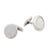 Stainless Steel White Mother Of Pearl Round Cufflinks
