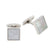 Stainless Steel White Mother Of Pearl Square Cufflinks