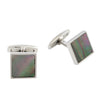 Stainless Steel Black Mother Of Pearl Square Cufflinks