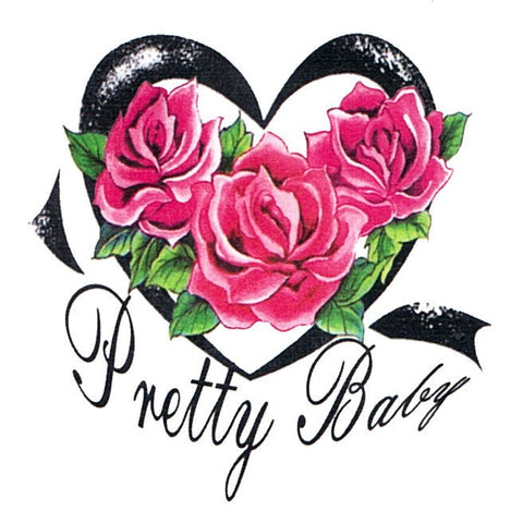 Pretty Baby Pink Roses Mini Temporary Tattoo