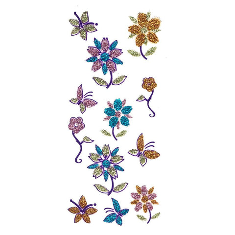 Flower Design Glitter Temporary Tattoo 3