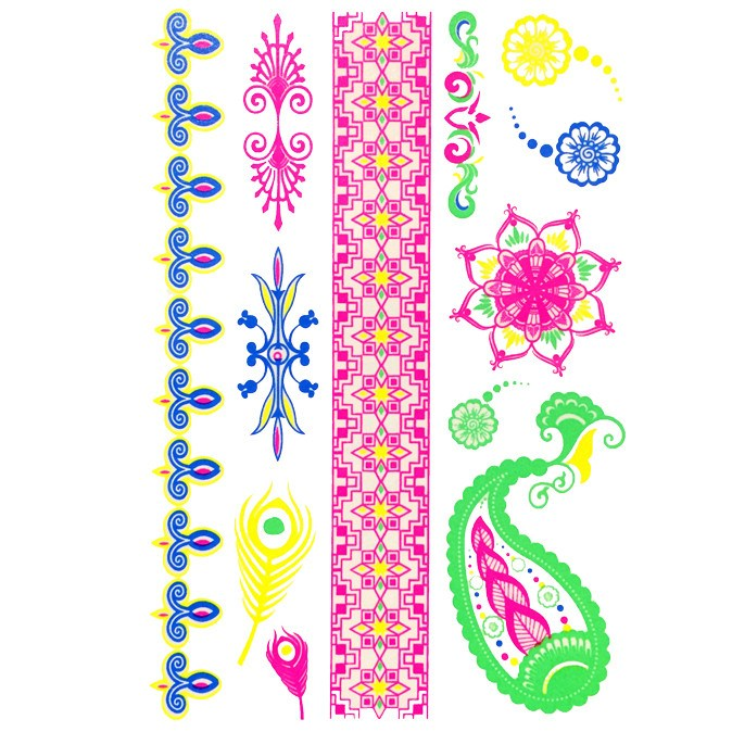 Temporary Tattoo - Day-Glo Temporary Tattoos - Design 76
